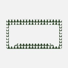 Triangle Arrows Pattern: Pine License Plate Holder
