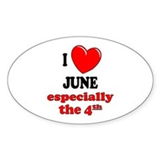June 4th Oval Decal