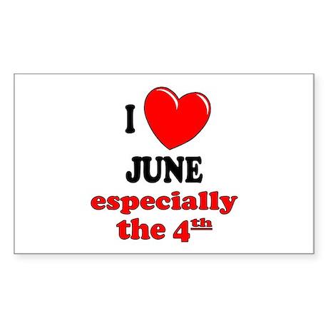 June 4th Rectangle Sticker