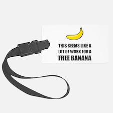 Free Banana Luggage Tag