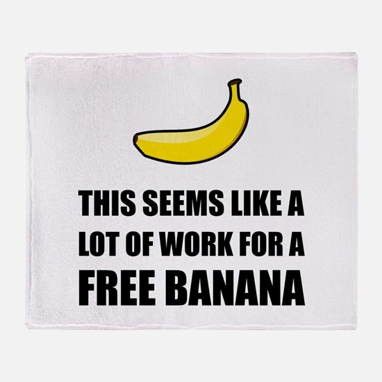 Free Banana Throw Blanket