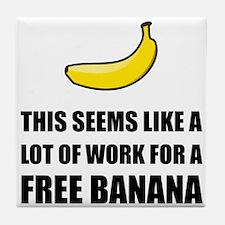 Free Banana Tile Coaster