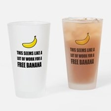 Free Banana Drinking Glass