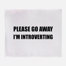 Go Away Introverting Throw Blanket