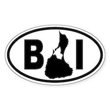 Block Island MAP Oval Bumper Stickers