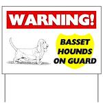 Basset Hound Yard Sign