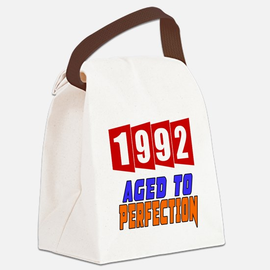 1992 Aged To Perfection Canvas Lunch Bag