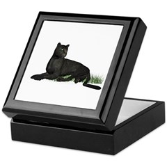Black Leopard Keepsake Box