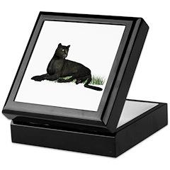 Black Leopard Keepsake Box