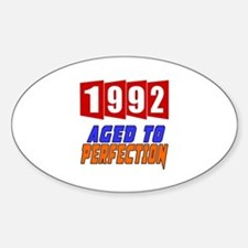 1992 Aged To Perfection Sticker (Oval)