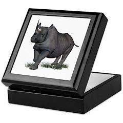 Rhinoceros Keepsake Box