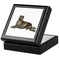 Gray Puma Keepsake Box