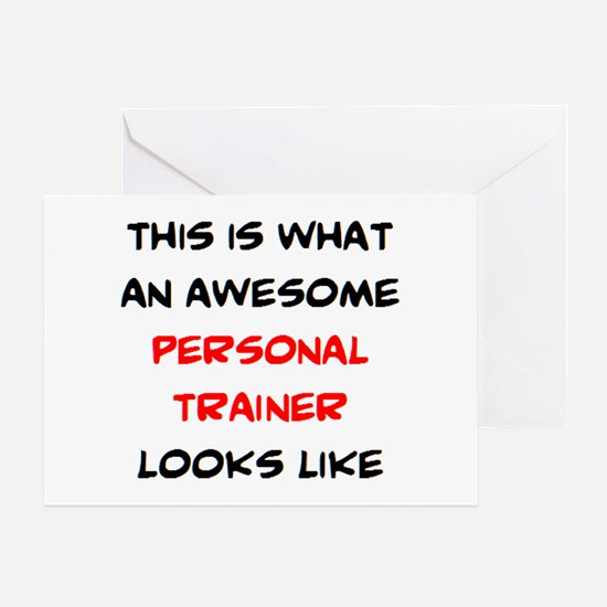 awesome personal trainer Greeting Card
