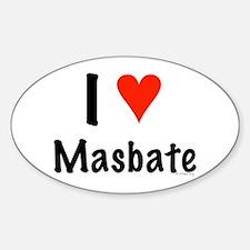 I love Masbate Oval Decal