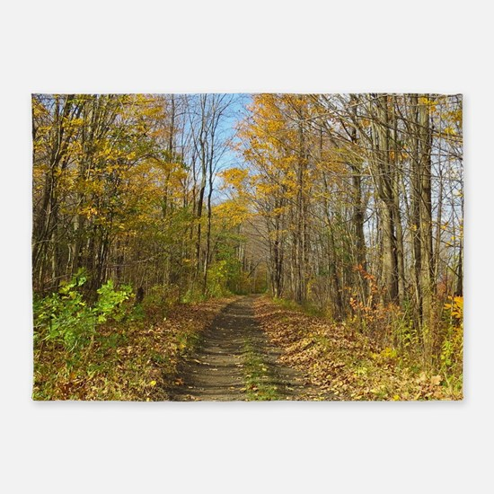 Hiking Trail In Autumn 5'x7'Area Rug