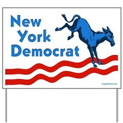 New York Democrat Yard Sign