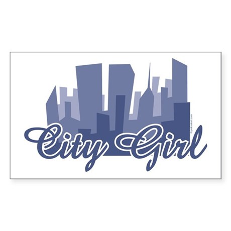City Girl Rectangle Sticker