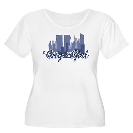 City Girl Women's Plus Size Scoop Neck T-Shirt