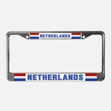 """Netherlands Flag"" License Plate Frame"