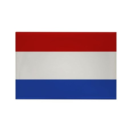 """Netherlands Flag"" Rectangle Magnet"