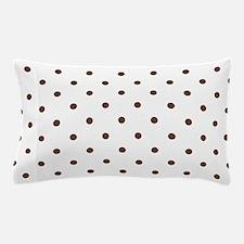 Polka Dots Pattern: Chocolate Brown Pillow Case