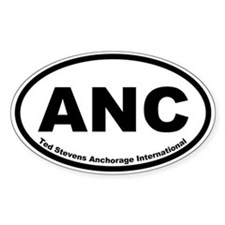 Ted Stevens Anchorage International Oval Decal