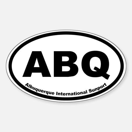 Albuquerque International Sunport Oval Decal