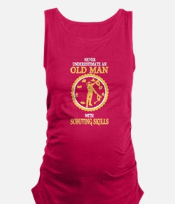 OLD MAN WITH SCOUTING SKILLS Maternity Tank Top
