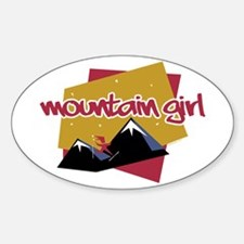 Mountain Girl Oval Decal