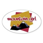 Mountain Girl Oval Sticker