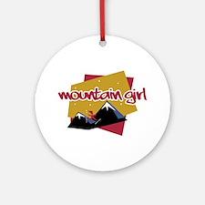 Mountain Girl Ornament (Round)