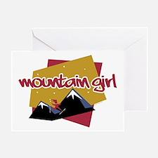 Mountain Girl Greeting Card