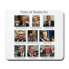 Fists of Rums-Fu (Rumsfeld) Mousepad