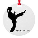 Karate Round Ornament