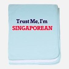 Trust Me, I'm Singaporean baby blanket