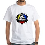 Space Vortex Alchemy White T-Shirt