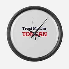 Trust Me, I'm Tongan Large Wall Clock