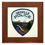 Oroville Police Framed Tile