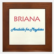 Briana - Available For Playda Framed Tile