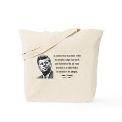 John F. Kennedy 11 Tote Bag