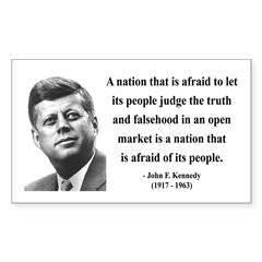John F. Kennedy 11 Rectangle Decal