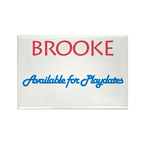 Brooke - Available For Playda Rectangle Magnet (10