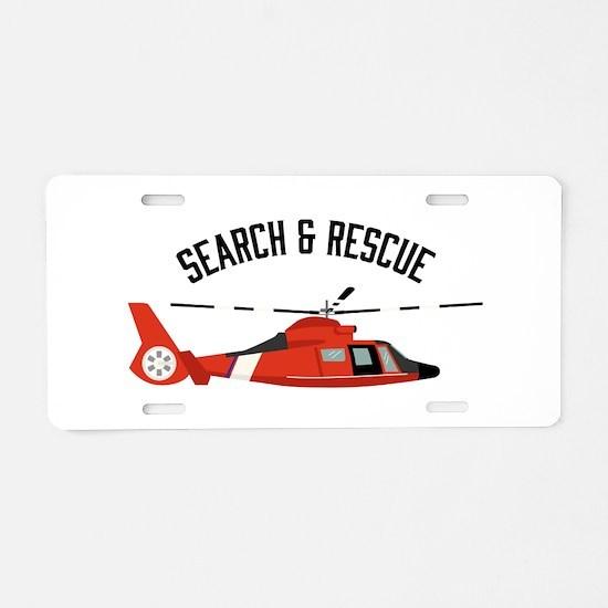 Search Rescue Aluminum License Plate