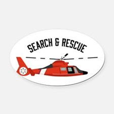 Search Rescue Oval Car Magnet