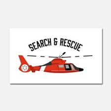 Search Rescue Car Magnet 20 x 12