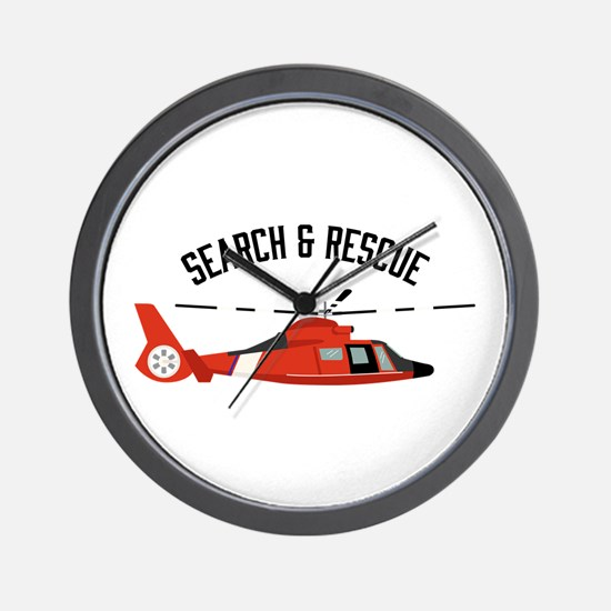 Search Rescue Wall Clock