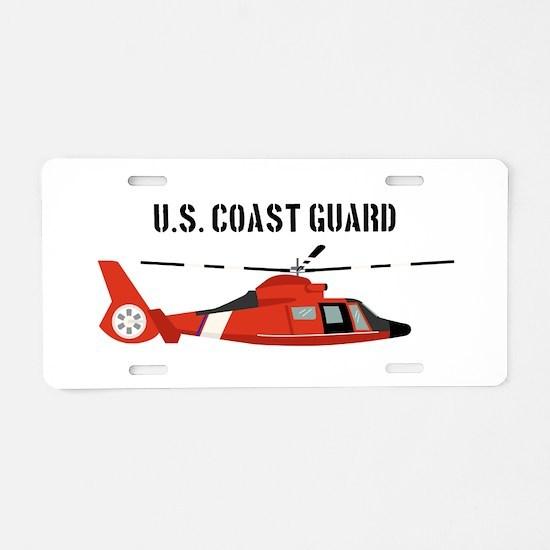 US Coast Guard Aluminum License Plate