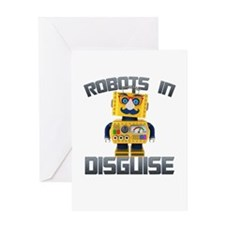 Vintage toy robot in disguise Greeting Cards
