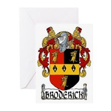 Broderick Coat of Arms Greeting Cards (Pk of 20)