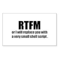 RTFM Rectangle Decal